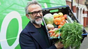 """Pour ce natif de Modène, dans le nord de l'Italie, berceau de la """"cucina povera"""" ou l'art de cuisiner avec peu, la lutte contre le gaspillage est génétique"""