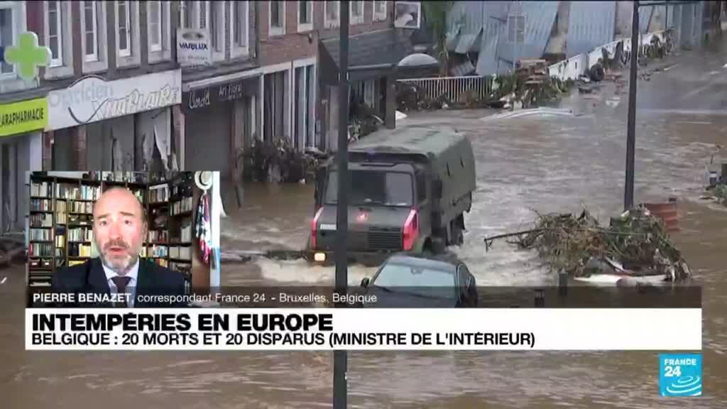 2021-07-16 17:09 Intempéries en Belgique: au moins 20 morts et 20 disparus dans les inondations