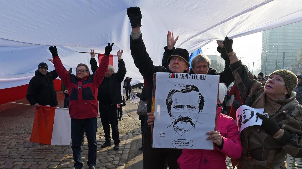 Des manifestants à Gdansk, le 28 février 2016.