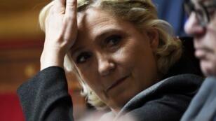Marine le Pen le 5 juin 2018, à Paris, à l'Assemblée nationale.