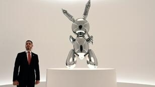 "Le ""Rabbit"" de Koons à Christie's à New York, le 3 mai 2019"