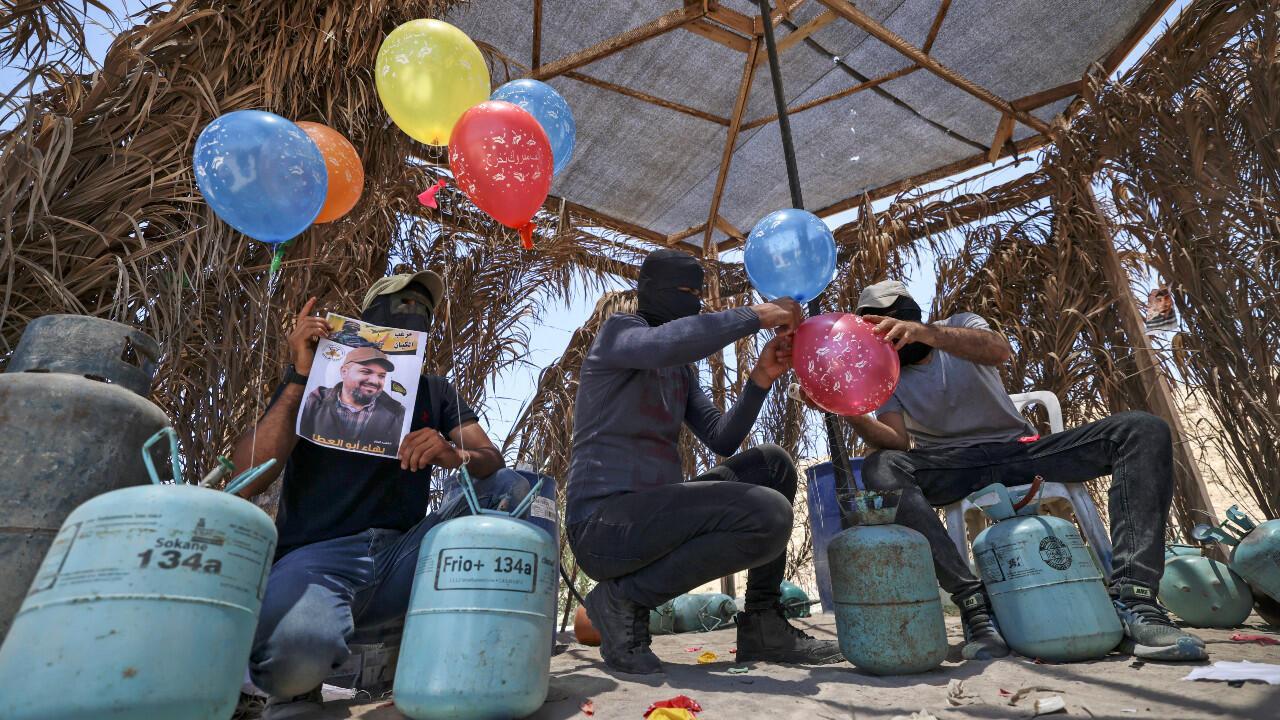 Gaza Ballons incendiaires