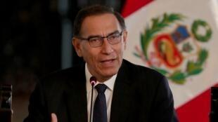 Imagen de archivo del presidente de Perú, Martín Vizcarra.