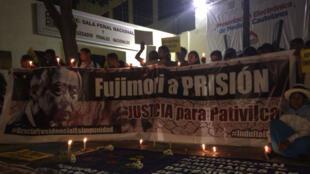 Durante la noche del 25 de enero, miembros de organismos de derechos humanos hicieron una vigilia en frente de la Sala Penal Nacional de Perú, en Lima, en memoria de las víctimas de la masacre de Pativilca, ocurrida en 1992.