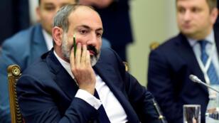 Le Premier ministre arménien par intérim Nikol Pachinian à Saint Pétersbourg, en Russie, le 6 décembre 2018.