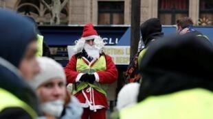 من مظاهرات السترات الصفراء السبت 15 ديسمبر/كانون الأول 2018.