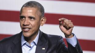 Le président américain Barack Obama, le 12 mars 2016, à Dallas.