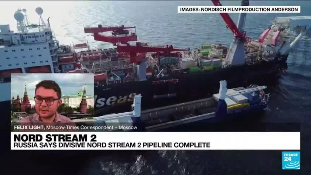 2021-09-10 15:03 Russia says divisive Nord Stream 2 pipeline complete