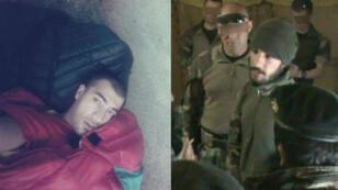 Mohammad Basir Ibrahimi après 2016 à Paris et en 2012, lorsqu'il travaillait encore pour l'armée française en Afghanistan.
