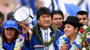 El presidente de Bolivia, Evo Morales, asiste a un mitin de campaña antes de las elecciones generales del 20 de octubre, en El Alto, en las afueras de La Paz, Bolivia, el 5 de octubre de 2019.