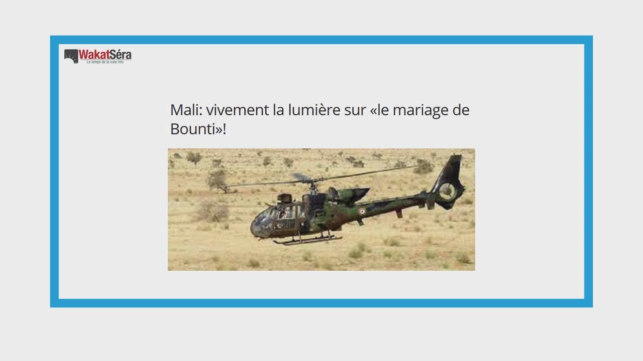 """Un rapport de l'ONU affirme que l'armée française a commis une """"bavure"""" au Mali"""