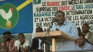 Joseph Kabila, vendredi, au stade de Rutshuru