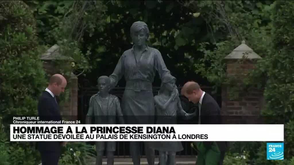 2021-07-01 16:12 Hommage à la princesse Diana : une statue dévoilée au palais Kensington à Londres