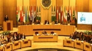 اجتماع وزراء الخارجية العرب في مقر الجامعة العربية بالقاهرة. 1 شباط/فبراير 2018.