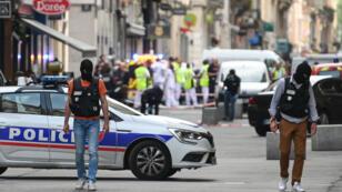 La rue piétonne Victor Hugo à Lyon dans laquelle a eu lieu l'explosion, le 24mai2019.