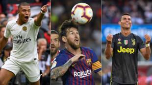 Kylian Mbappé, Lionel Messi et Cristiano Ronaldo ont tous trois entamé leur saison sur une victoire.