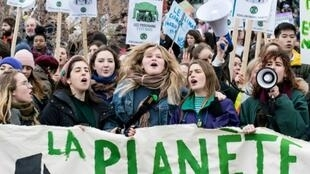 Protesters flooded the streets of Montreal in March 2019 as hundreds of thousands of young people skipped school across the globe in a day of protest aimed at pushing world leaders into action on climate change