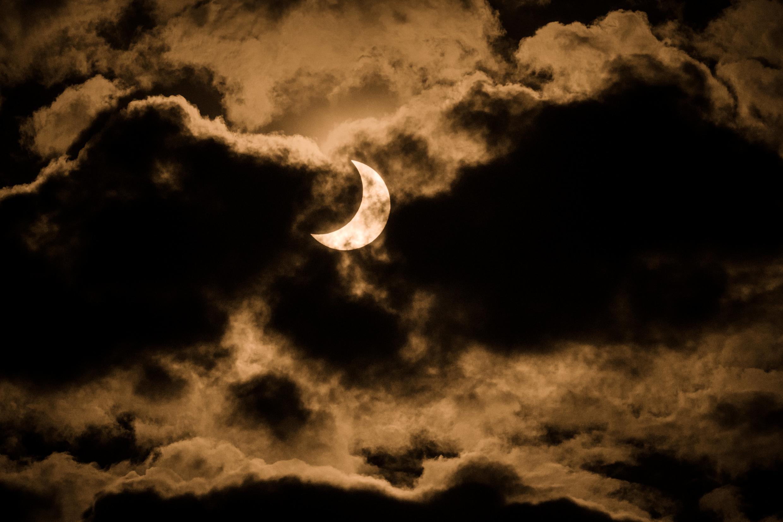 L'éclipse observée depuis le Kenya, le 21 juin 2020.