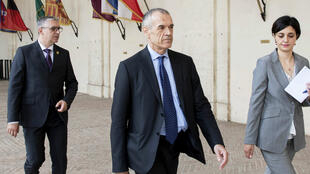 Carlo Cottarelli, lundi 28 mai 2018, arrive au Palais du Quirinal à Rome.