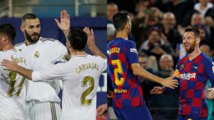 بطولة إسبانيا: برشلونة وريال مدريد في الصدارة بفوزين رباعيين
