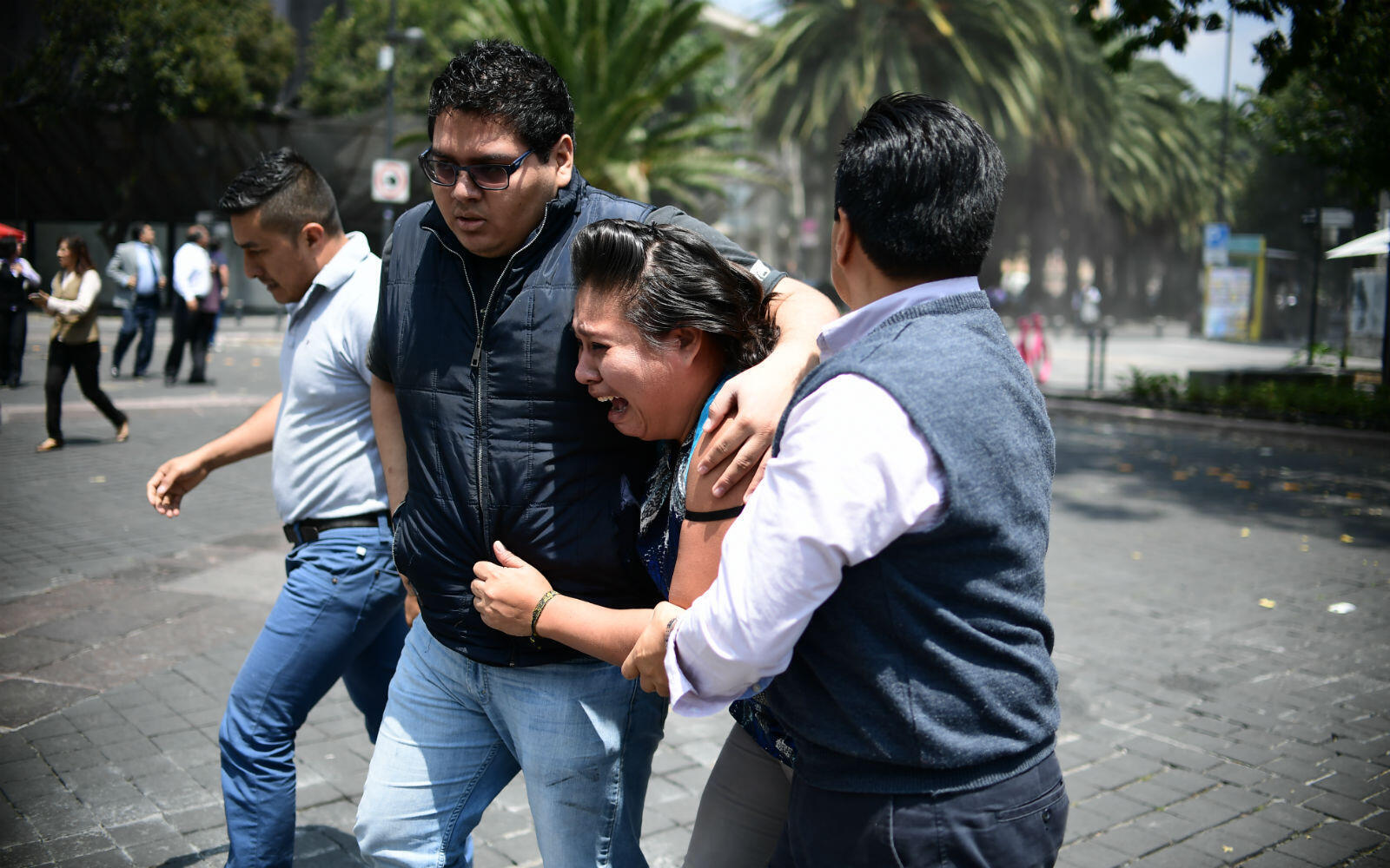 At least 50 buildings collapsed in the earthquake in Mexico City, a city of 20 million.