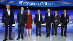 Les sept candidats à la primaire de la droite ont exposé leur programme sans s'affronter directement leur de leur premier débat télévisé.