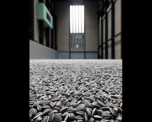 Sunflower Seeds 2010 Crédit photo : Tate Photography © Ai Weiwei (photo de l'exposition des oeuvres d'Ai Weiwei à la Tate Modern Gallery de Londres, jusqu'au 2 mai)
