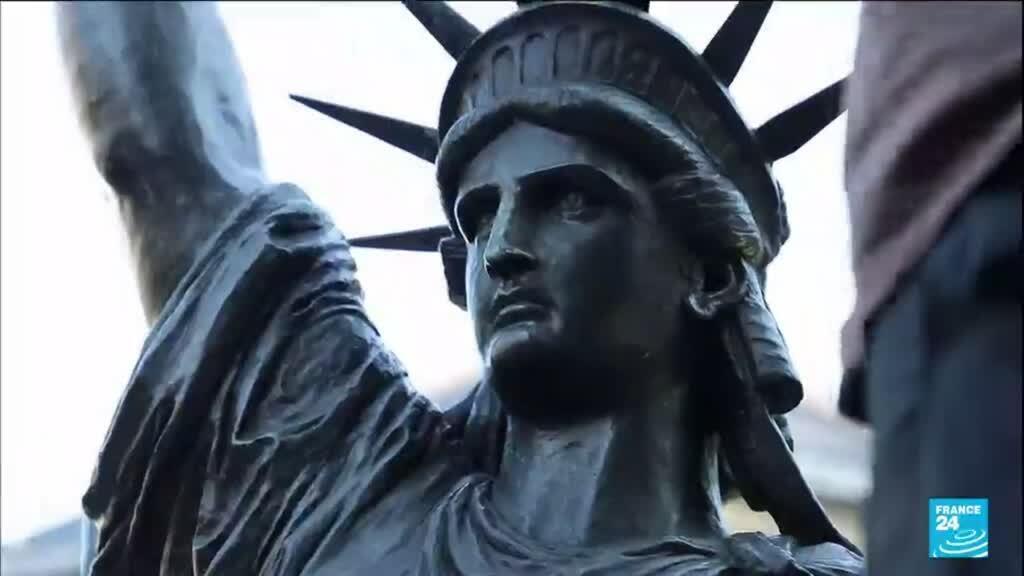 2021-06-07 16:13 France : une petite soeur de la statue de la Liberté s'envole pour les États-Unis