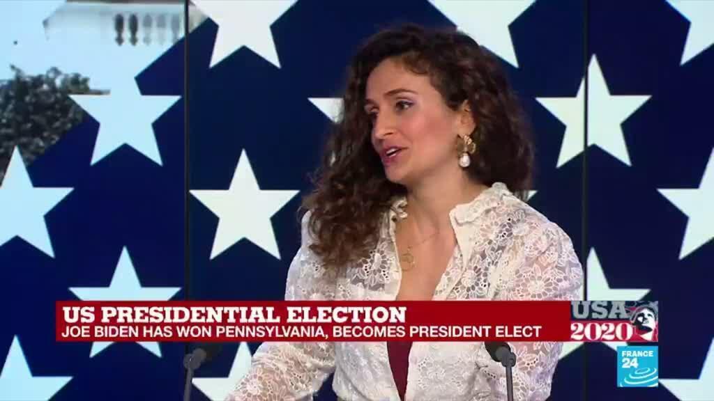 2020-11-07 18:42 Joe Biden faces battle to unite divided country