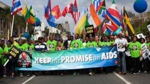 """Des activistes ont manifesté dans les rues de Durban le 16 juillet 2016, appelant les responsables politiques et de santé à """"respecter leurs promesses""""."""