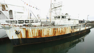 La Calypso dans le musée maritime de La Rochelle en 2004.
