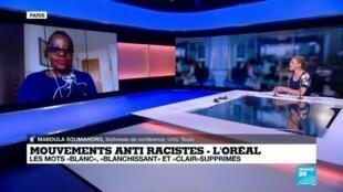 2020-06-28 13:08 Maboula Soumahoro sur France 24: Les entreprises essayent d'absorber les mobilisations