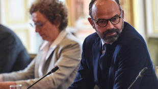 French Prime Minister Edouard Philippe has sought to shield Labour Minister Muriel Pénicaud (left) from criticism amid bitter infighting within France's ruling party.