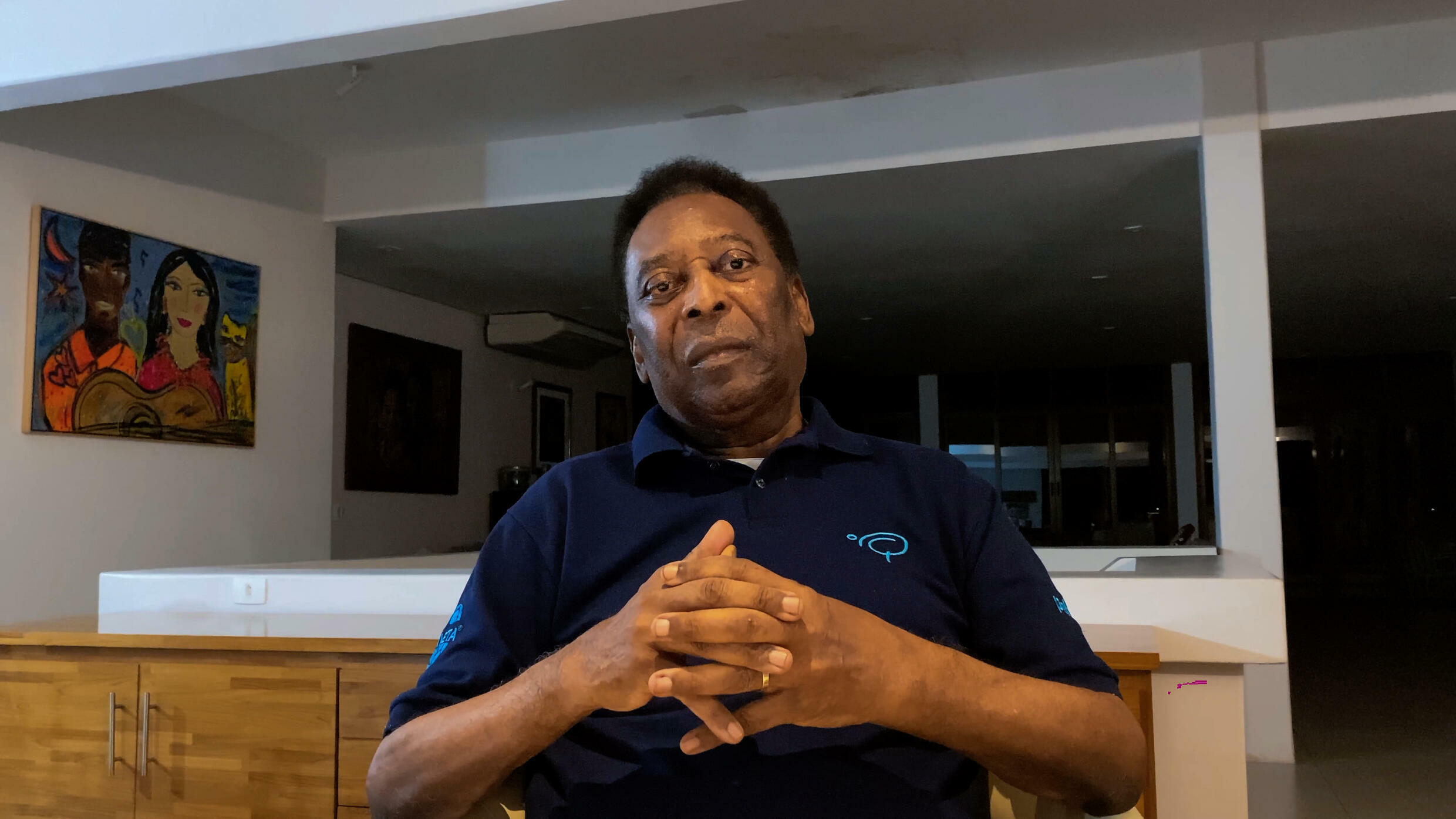Pele assured his fans that he was in good health last  October