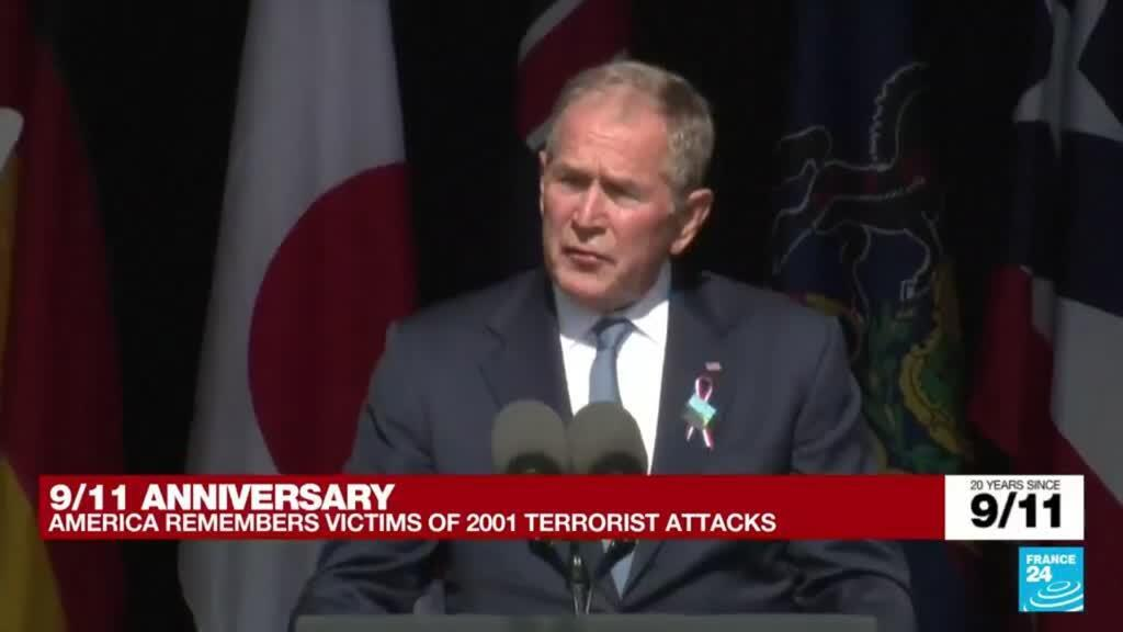 2021-09-11 16:46 9/11 anniversary: 'Today we remember your loss, we share your sorrow', says former President Bush