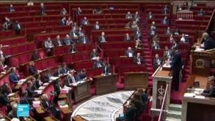 El hemiciclo de la Asamblea Nacional francesa
