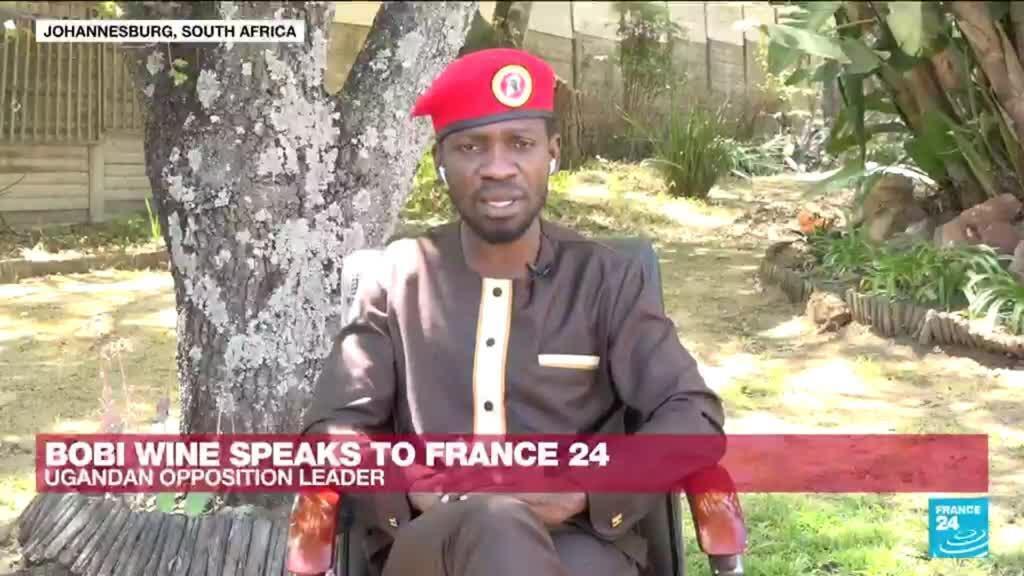2021-09-14 15:12 Ugandan opposition leader Bobi Wine speaks to FRANCE 24
