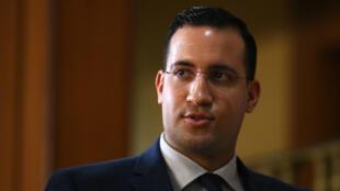 Alexandre Benalla, le 21 janvier 2019, au Sénat.