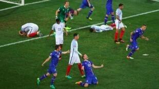 Les joueurs islandais sont en émoi.