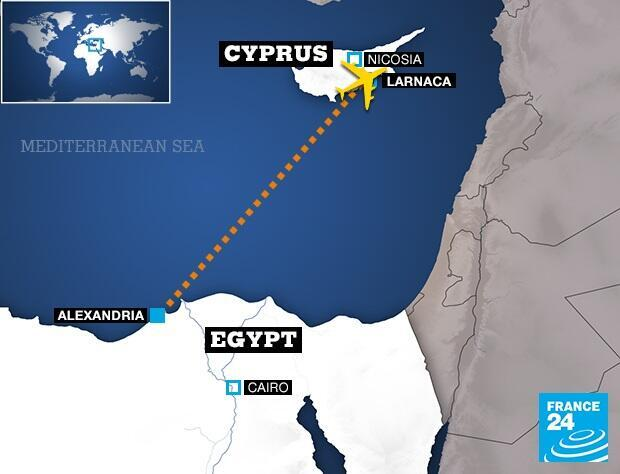 Flight path of hijacked EgyptAir Flight MS181
