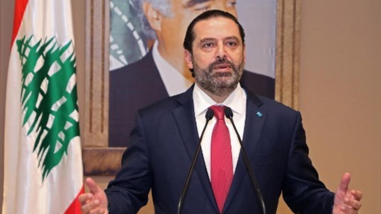 El primer ministro saliente de Líbano, Saad Hariri.