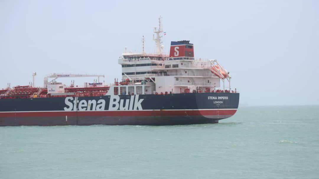 Stena Impero, un barco de bandera británica propiedad de Stena Bulk, se ve en el puerto de Bander Abas, en esta foto sin fecha.
