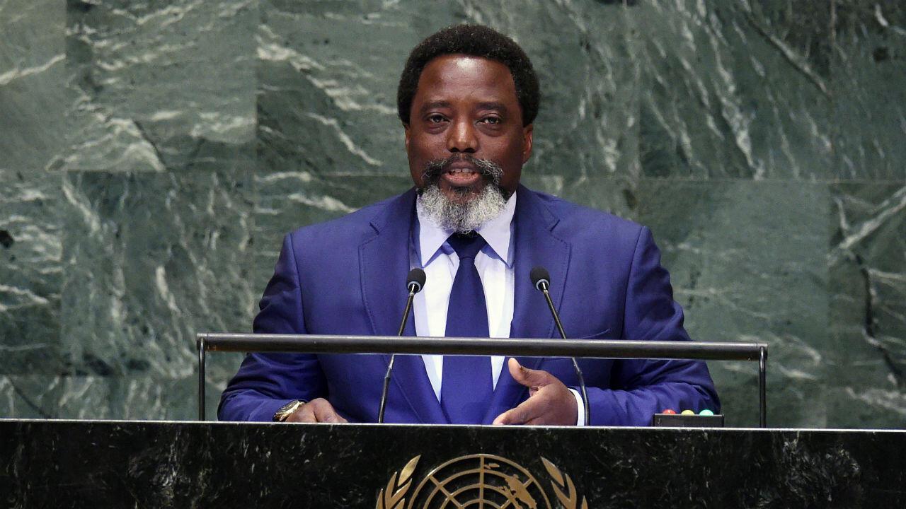 Le 25 septembre 2018, le président de la République démocratique du Congo, Joseph Kabila (47 ans), devant la 73e session de l'Assemblée générale aux Nations Unies à New York maintient que les élections seront fixées le 23 décembre.