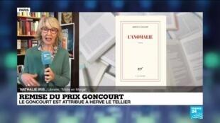 """2020-11-30 12:33 Le prix Goncourt 2020 est attribué à Hervé Le Tellier pour """"L'Anomalie"""""""
