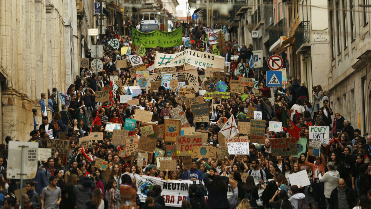 HUELGA CLIMA PORTUGAL