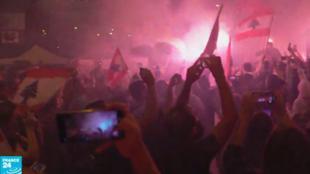 المتظاهرون في العاصمة، لبنان