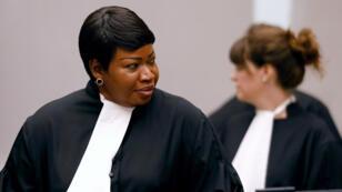 Foto de archivo de la fiscal Fatou Bensouda en la Corte Penal Internacional en La Haya, Países Bajos, el 28 de agosto de 2018.