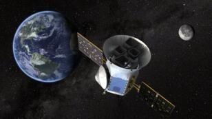 Imagen facilitada por la NASA que muestra una impresión artística del satélite TESS.