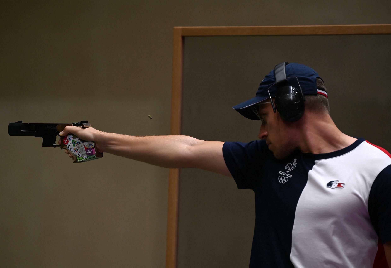 Jean Quiquampoix a été sacré champion olympique de pistolet à 25 m tir rapide aux Jeux de Tokyo.