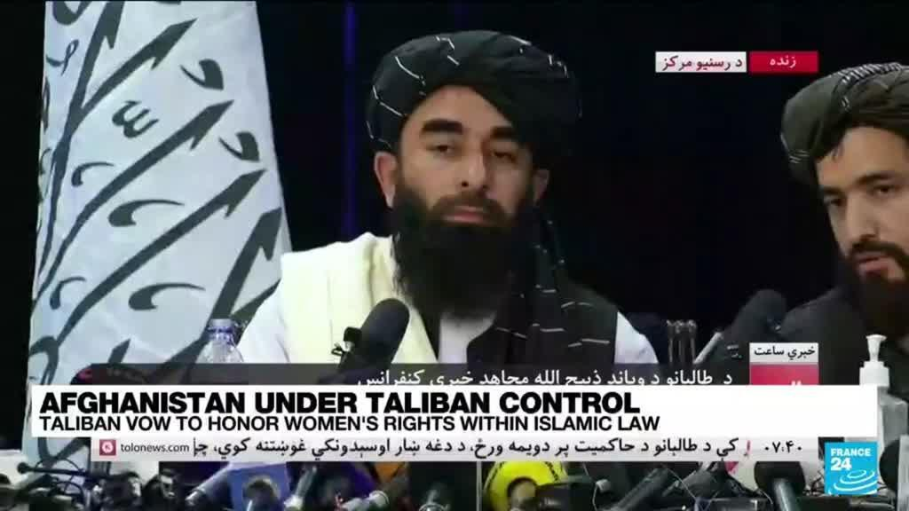 2021-08-17 18:06 Taliban show conciliatory face at first news conference, vow to honor women's rights